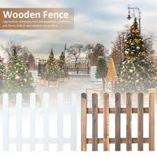 Hot Wooden Picket Fences Miniature Fairy Garden Fence For Christmas Wedding Party Garden Home Decoration Shopee Philippines