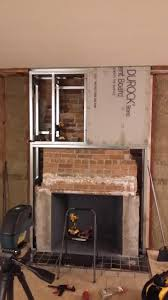 masonry fireplace for stone veneer