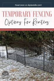 Portable Fence Panels Perfect As A Temporary Fence For Renters Diy Danielle Portable Fence Fence Panels Temporary Fence For Dogs