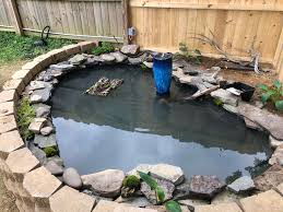 Just Built This Pond For My Wife And Her Turtles Not Quite Done Yet Needs Cosmetic Work But Is Almost There Turtle