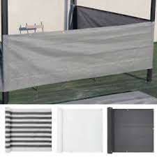 Deck Balcony Privacy Screen Hdpe Garden Patio Screening Fence Sunshade Windbreak Ebay