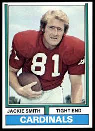 1974 Topps Football Jackie Smith #485 on Kronozio