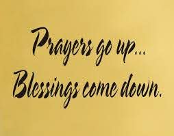 Prayers Go Up Blessings Come Down Wall Decal Etsy