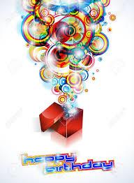 Antecedentes Feliz Cumpleanos Coloridos Con Formas Abstractas Y Elementos De La Fantasia Ilustraciones Vectoriales Clip Art Vectorizado Libre De Derechos Image 11014292