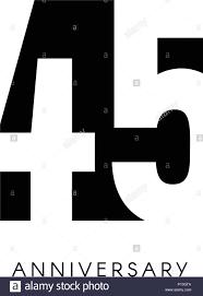 Cuarenta Y Cinco Aniversario Logo Minimalista 45º 45anos De