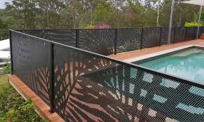 Pool Perf Decorative Pool Fencing Perforated Perfection