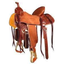 chestnut poinsettia barrel saddle