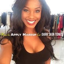 how to apply makeup for dark skin tones
