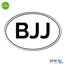 Brazilian Jiu Jitsu Bjj Oval Sticker Dfw Stickers