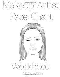 makeup artist face chart workbook sigga