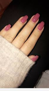 mauve matte nails color