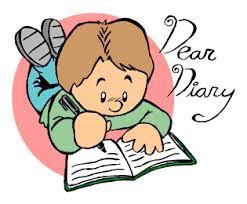 Image result for diary writing by kids cartoon""
