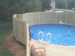With Privacy Fence Above Ground Pool Fence Pool Fence Above Ground Pool