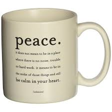 quotable mug peace enjoy inspiring quotes from quotable cards