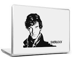 Laptop Skins Decals Sherlock Black Sketch Laptop Skin Postergully