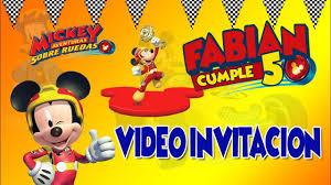 Mickey Aventuras Sobre Ruedas Video Invitacion Disney Channel