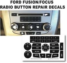 09 13 Ford Fusion Focus Radio Stereo Button Repair Decals Ebay