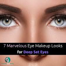 eye makeup looks for deep set eyes