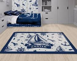 Nautical Nursery Rug Etsy