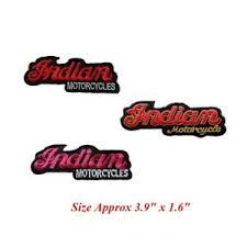 3 Style Indian Motorcycle Biker Patch Embroidered Iron Or Sew On Coat Jacket Bag Ebay