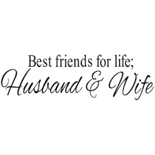 Amazon Com Best Friends For Life Husband Wife Quotes Wall Decor For Bed Room Wall Decals Stickers Diy Hole View For Bedroom Room Kids Room Refrigerator Decoration Baby