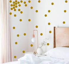 Gold Polka Dots Stickers Removable Wallpaper Gold Pattern Etsy