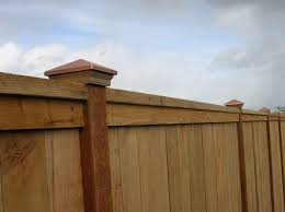 169 Cap Trim Privacy Fence With Decorative Post Caps Outdoor Fence