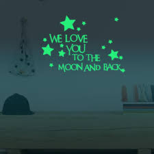I Love You To The Moon And Back Wall Decal Glow In The Dark Jack And Jill Boutique