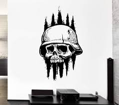 Wall Decal Skull Skeleton Army Soldier Dead Death Zombie Vinyl Decal U Wallstickers4you