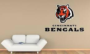 Nfl Cincinnati Bengals Large Logo Custom Vinyl Wall Decals Peel Stick St51 Ebay