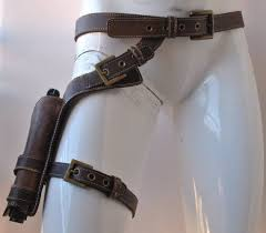 real leather leg holster leather