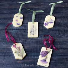 wax sachets with pressed flowers