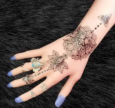 Aiyana Tribal Lotus Mandala Temporary Tattoo Tatuagens Tribais