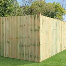 6 Ft X 8 Ft Pressure Treated Pine Dog Ear Fence Panel 158083 The Home Depot Dog Ear Fence Fence Panels Wood Fence Installation