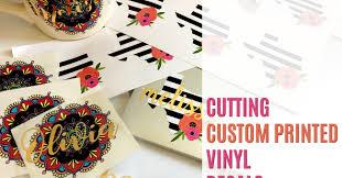 Custom Printed Vinyl Decals Silhouette Pixscan Tutorial Hack Silhouette School