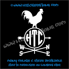 Weathervane Rooster Chicken Farm Wind Home Barn Tractor Car Truck Laptop Vinyl Decal