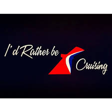 Carnival Cruise Decal I D Rather Be Cruising Car Decal Etsy