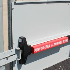 Panic Bar Mounting Plate For Chain Link Fence Gates Panic Shield For Detex Panic Bars