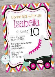 Roller Skate Skating Kid Birthday Party Invitation Printable