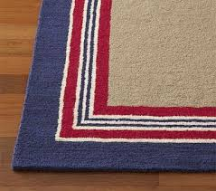 Tailored Striped Rug Navy Red Striped Rug Rugs Pottery Barn Kids