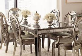 mirrored extendable dining tables