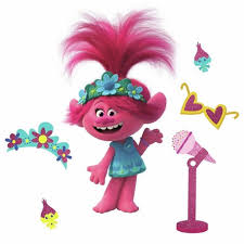 Trolls World Tour Poppy With Glitter Peel And Stick Giant Wall Decal Target