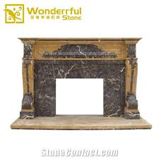 marble fireplace mantel surround hearth