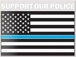 Amazon Com Best In Auto Support Our Police Usa Flag Car Full Color Decal Vinyl Thin Blue Line Sticker Thankacop Suv Truck Van Rear Windshield 5 Inches Large Back Window Automotive