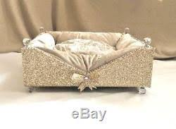 crystal bow wow bed dog cat sofa bed