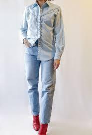 Vintage 70's Ms Joni West baby blue western shirt XS | Etsy
