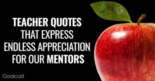 teacher quotes that express endless appreciation for our mentors