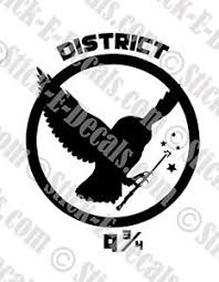 District 9 3 4 Hunger Games Hedwig Potter Vinyl Decal Sticker Free Usa Shipping Ebay