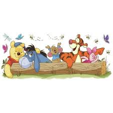 Winnie The Pooh Outdoor Fun Peel And Stick Giant Wall Decal Target