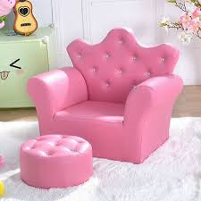 Pink Kids Sofa Armrest Couch With Ottoman Kids Playroom Furniture Armchair Home Ebay